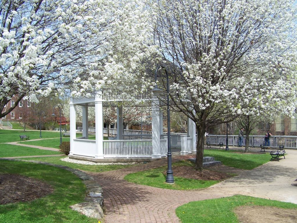 Image of Rotary Park and the gazebo in the springtime