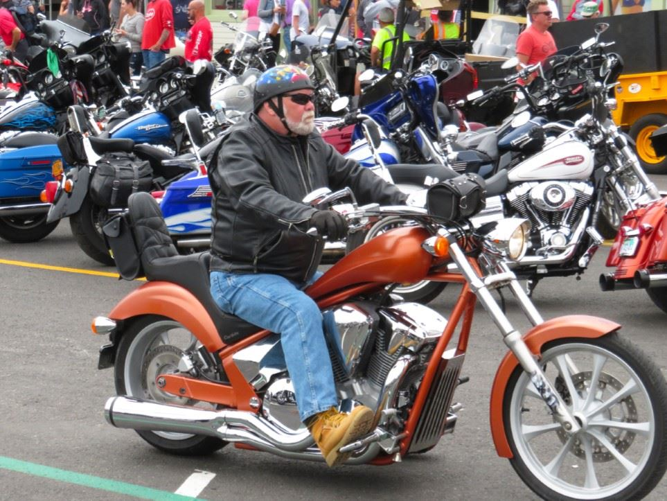 Motorcyclist at 2017 Laconia Motorcycle Week. (Photo compliments of W. Stephen Loughlin)