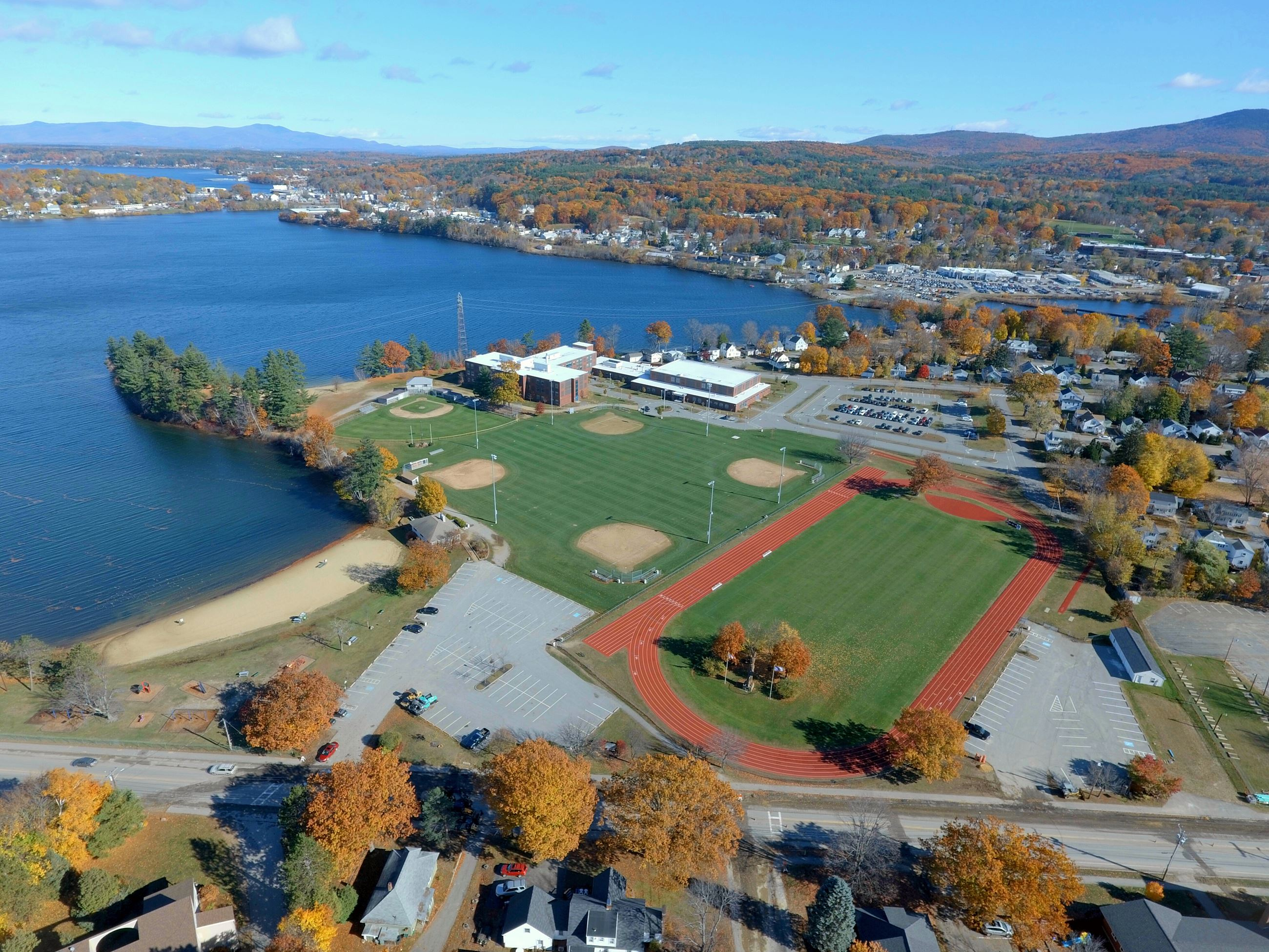 Overhead view of Opechee Park - photo compliments of Allan Luther
