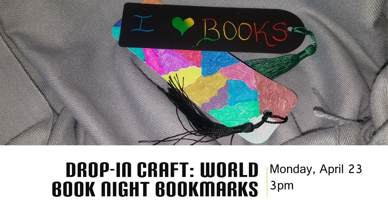 drop in craft world book night bookmarks
