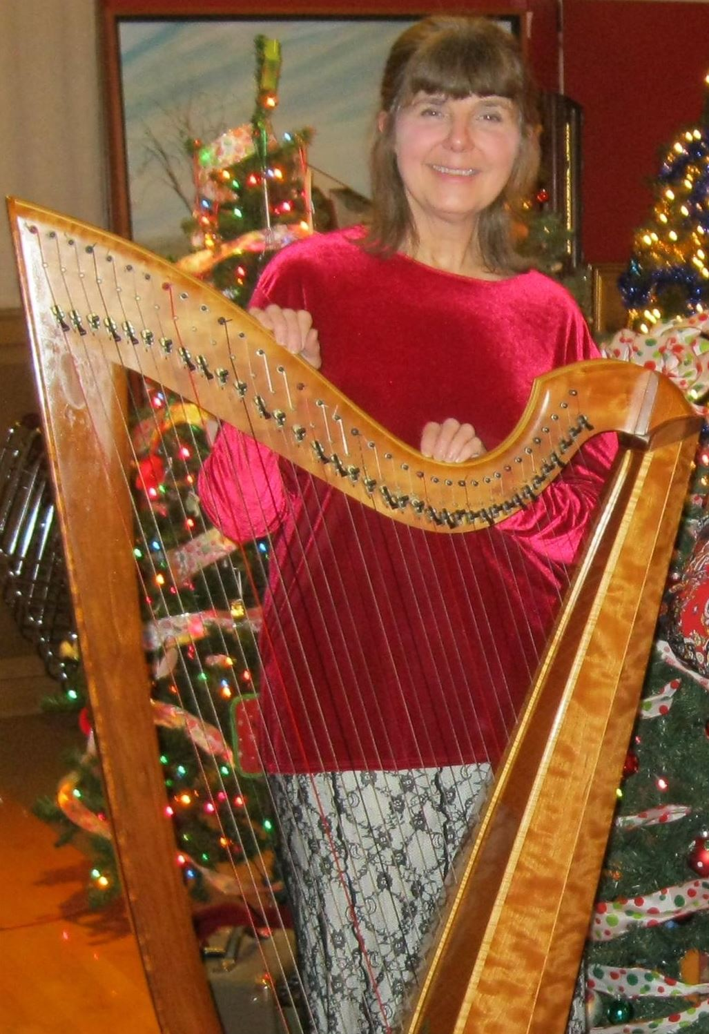 Jane with Celtic style harp