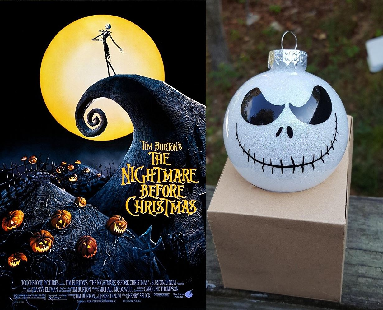 jack ornament and nightmare before christmas