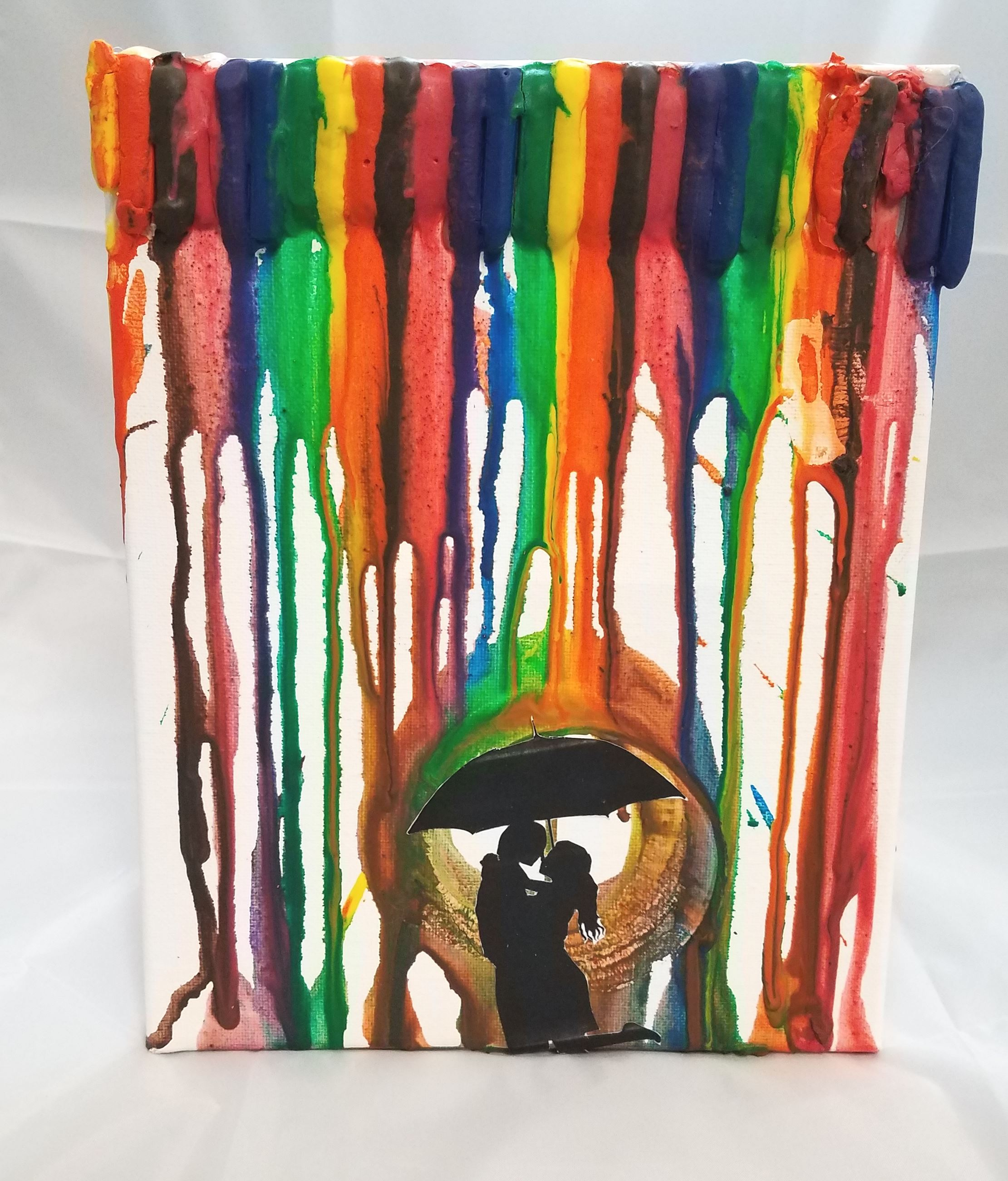 adult melted crayon art