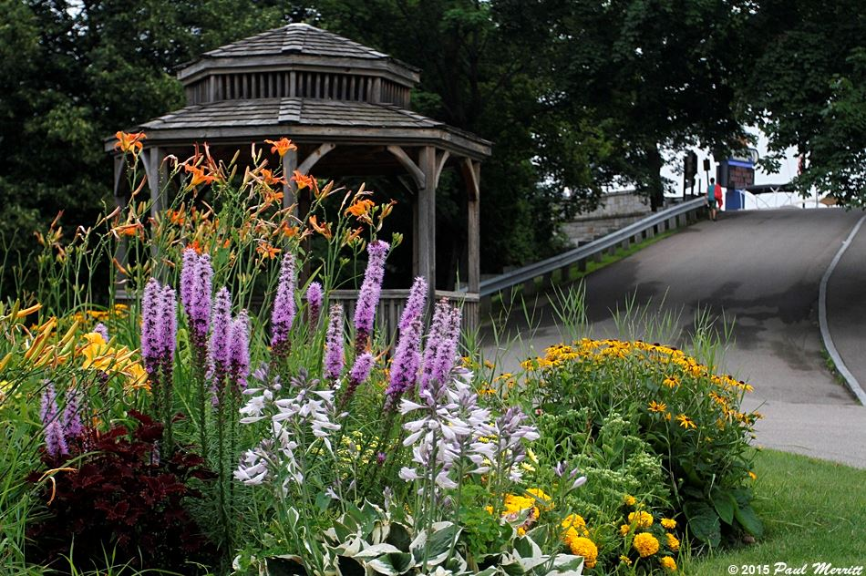 Gazebo at entrance to Endicott Park at Weirs Beach