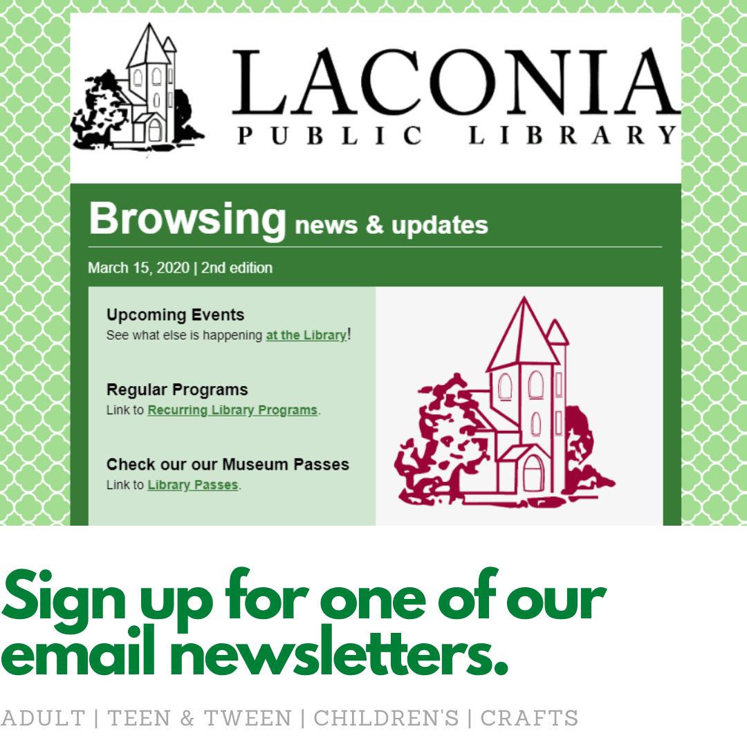 Sign up for one of our email newsletters.