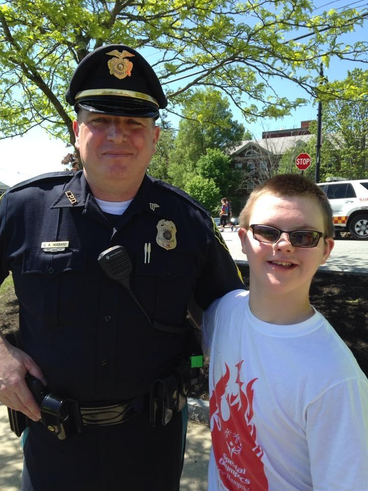 Sergeant Gary Hubbard and Special Olympian