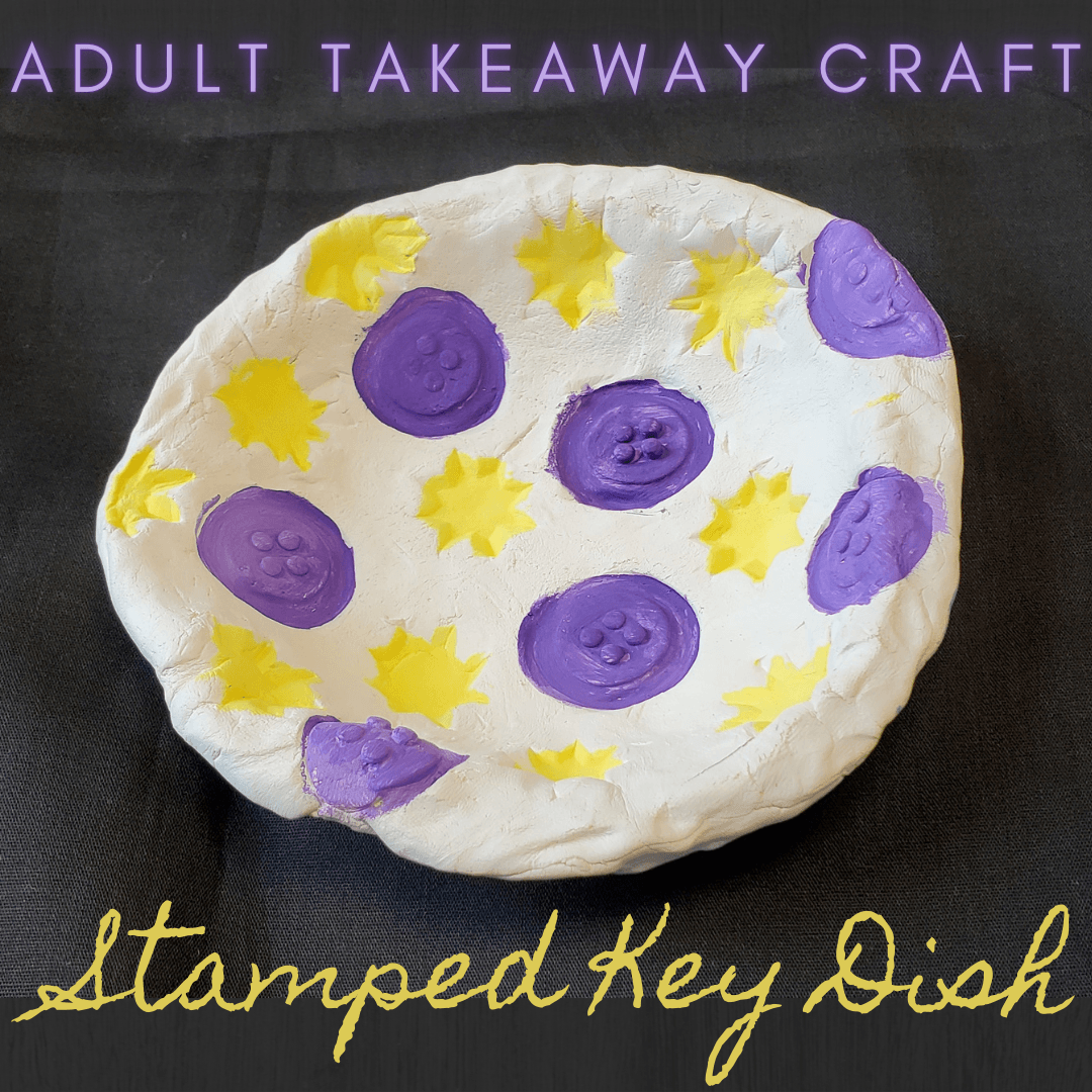Adult Takeaway Craft Stamped Key Dish