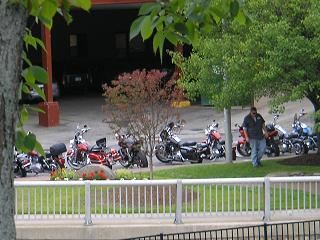 A view of Beacon Street East Bike Week 2009