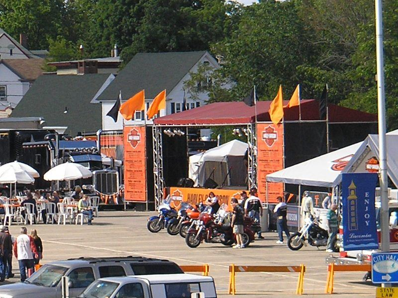 A view of the stage at Harley Davidson Bike Week 2009