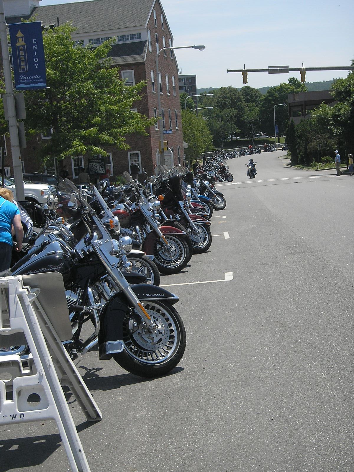 The motorcycle parking along Beacon Street, 2010