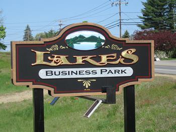 Lakes Business Park sign