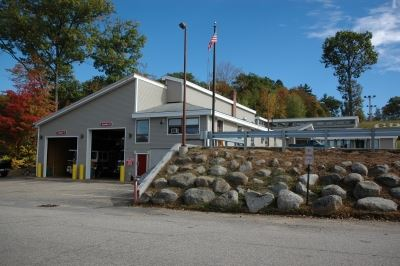 Street view of the Weirs Community Center and the Weirs Fire Station from Lucerne Ave.