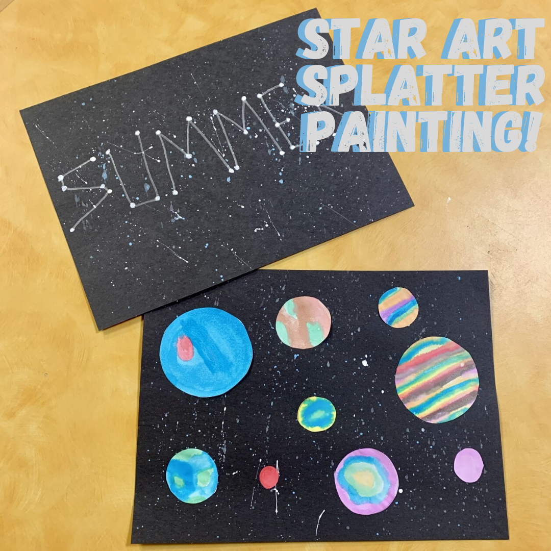 Star Art Splatter Painting!