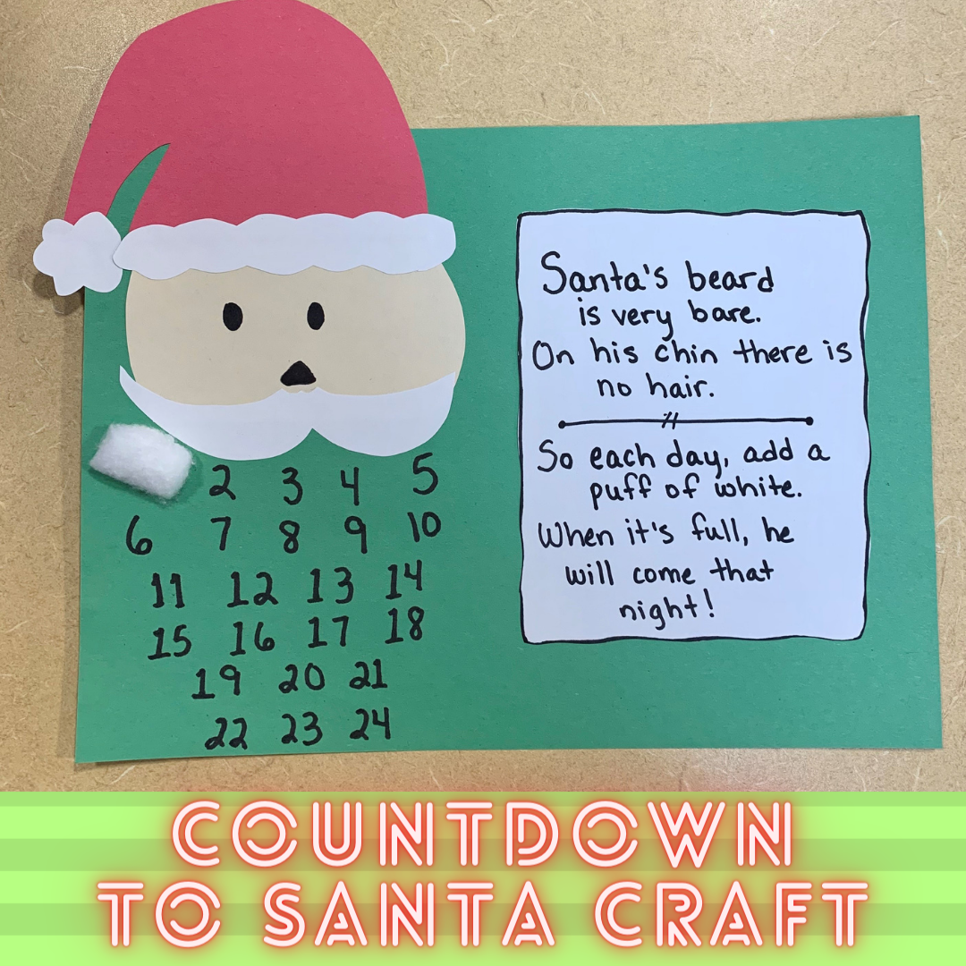 countdown to santa craft
