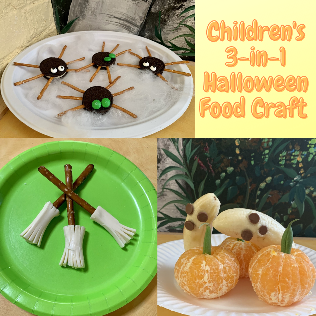 Childrens 3 in 1 Halloween food craft