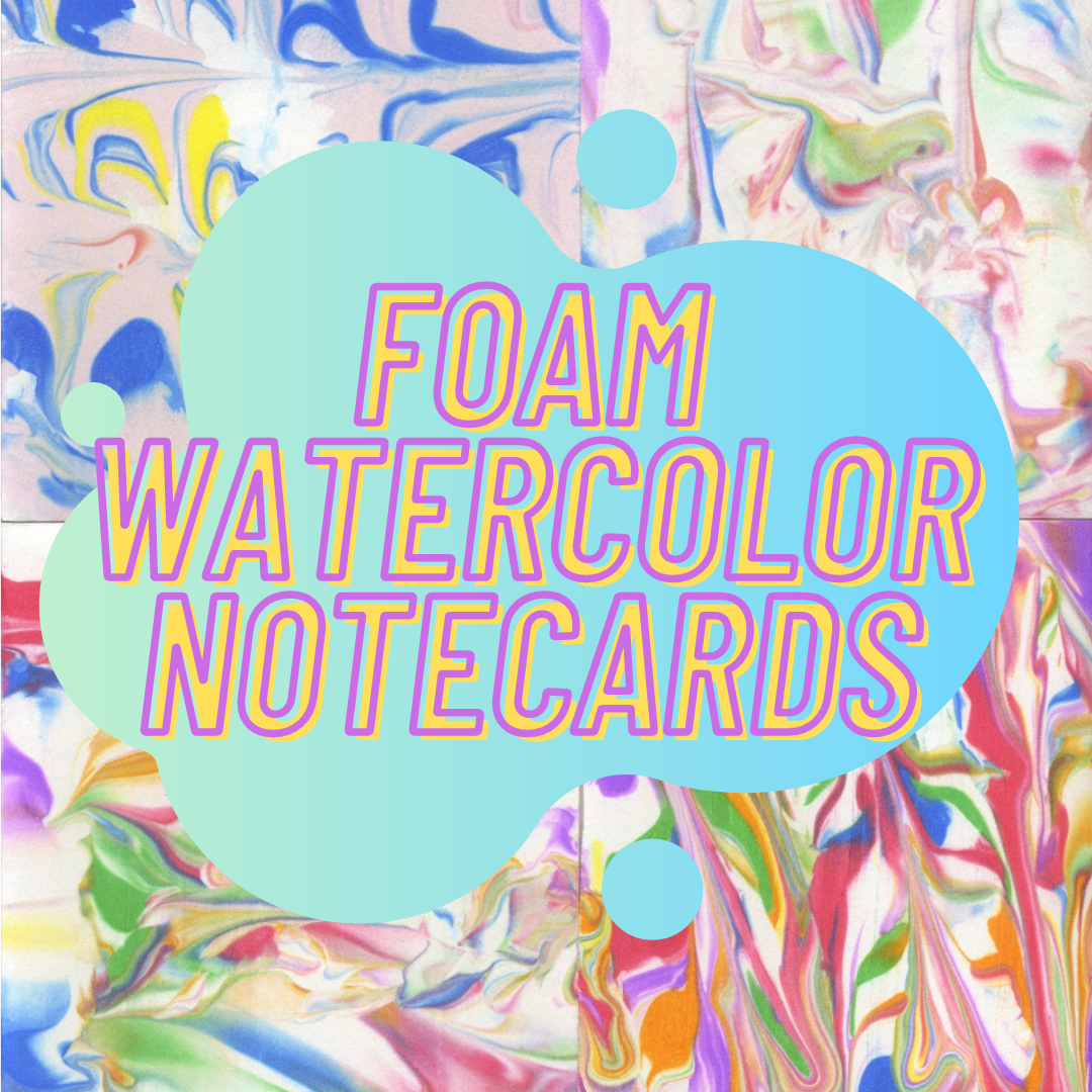 foam watercolor notecards