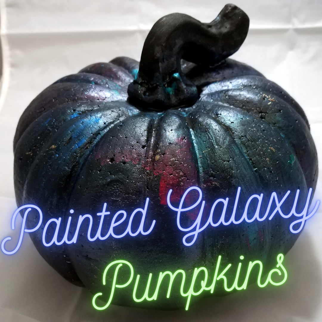 Painted Galaxy Pumpkins